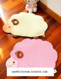 Soft Sheep Mat - Pink, White