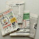 Colorful Vintage Newspaper Cotton Fabric - 145 x 80 cm