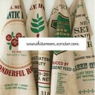 Retro Coffee House Cotton Fabric - 88 x 140 cm