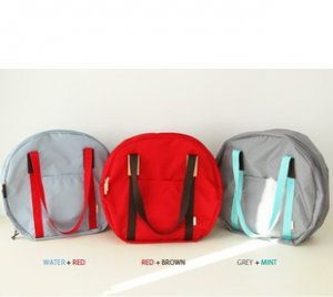 Multi Function Round Travel Bag - in 8 multi colors