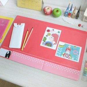 Polkadot Desk Mat - Mint, Pink, Peach