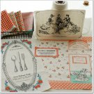Picnic Basket Cotton Fabric - 85 x 140 cm