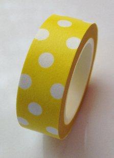 Yellow Polkadot Paper Tape