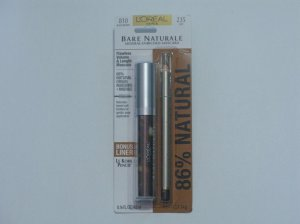 L'Oreal Bare Naturale Mineral-Enriched Mascara w/bonus Le Kohl Pencil Liner Black Brown( Set )