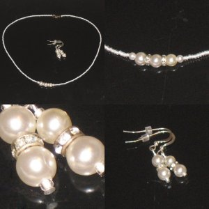 Elegance set - Necklace and Earrings , NEW