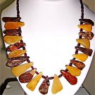 026N-Picturesque Jasper, Cornelian, Garnet Necklace.