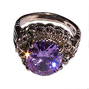034R-Unbelivable Silver Ring .