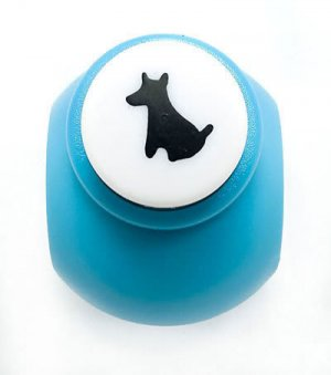 Dog Pets Animal Paper Stamp 1.5cm Punch Scrapbooking #10225