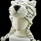 White Tiger Mascot Fancy Dress Costume Mask Fur Hat Cap #11234