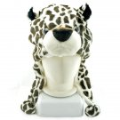 Leopard Spots Mascot Plush Fancy Dress Costume Fur Hat Cap #11417
