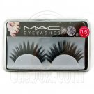 Black 15mm Fake False Eyelashes Lashes for Halloween Party #11722