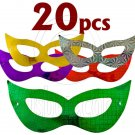 Lot 20 Shiny Bat Mardi Gras Masquerade Ball Party Mask #11965