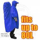 BlueField 2in1 Backpack Rain Cover Rain Coat (fits up to 80L) (ROYAL BLUE) #51463