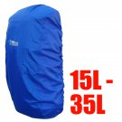 BlueField Backpack Rain Cover 15L to 35L BLUE (Small) #50937