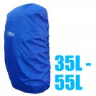 BlueField Backpack Rain Cover 35L to 55L BLUE (Medium) #51302