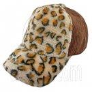 Cheetah Leopard Pattern Baseball Plush Corduroy Cap (BROWN) #51475