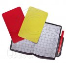 Football Referee Penalty Red Yellow Cards with Wallet Pencil Note Set #51496