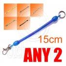 2x Plain Extentable Strap 15cm Keychain (BLACK / BLUE / GREEN / WHITE / RED / YELLOW) #51497