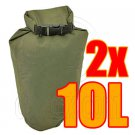 2x 10L Waterproof Dry Bag & 1x 8cm carabiner #51525