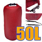 50L Taffela Waterproof Dry Bag (with 1 Eyelet & shoulder strap) #51530