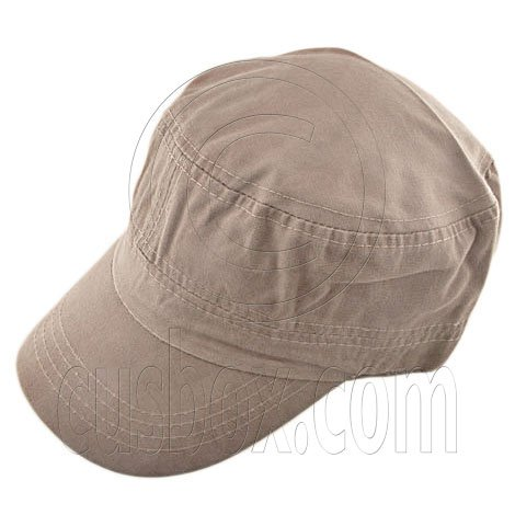 Military Cap with Clip (LIGHT BROWN) #51536