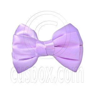 Pair Adorable 4.5inches 11cm Ribbon Bowknot Bow Tie Alligator Hair Clips LIGHT PURPLE #51558