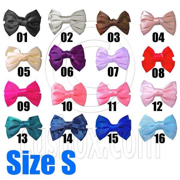 Pair Adorable 3inch 8cm Ribbon Bowknot Bow Tie Alligator Hair Clips Small Pick 2 Colors #51635