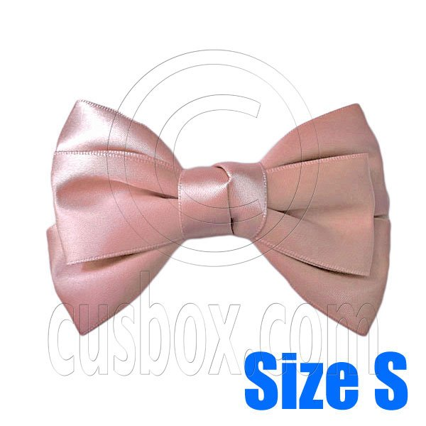 Pair Adorable 3inch 8cm Ribbon Bowknot Bow Tie Alligator Hair Clips Small CHAMPAGNE #51639