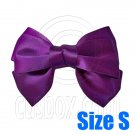 Pair Adorable 3inch 8cm Ribbon Bowknot Bow Tie Alligator Hair Clips Small DARK PURPLE #51641