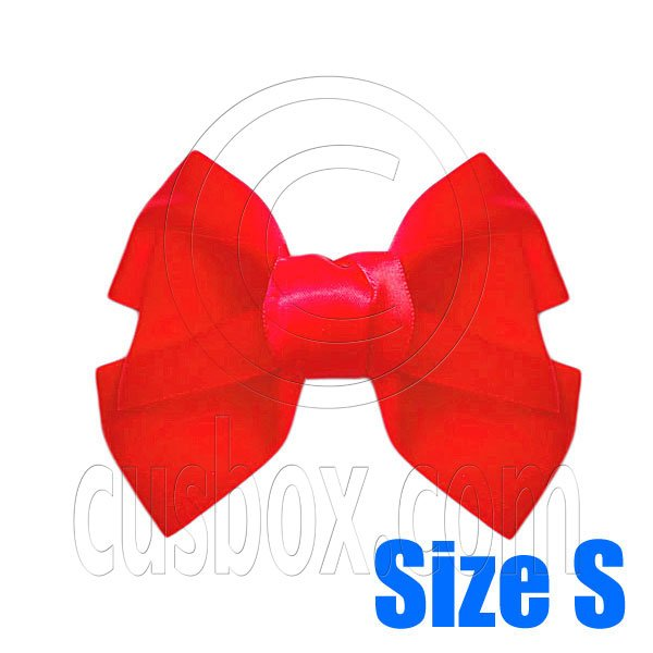 Pair Adorable 3inch 8cm Ribbon Bowknot Bow Tie Alligator Hair Clips Small RED #51643