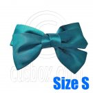Pair Adorable 3inch 8cm Ribbon Bowknot Bow Tie Alligator Hair Clips Small DARK GREEN #51648