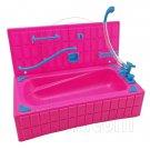 Pink Bathroom Bathtub Set 1:6 Blythe Barbie Doll's House Dollhouse Furniture #12376