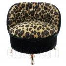 Cheetah Oval Sofa Chair Jewelry Box 1:6 Barbie Doll's House Dollhouse Furniture #12382