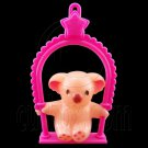Plastic Bear Swing Chair 1:6 Barbie Blythe Doll's House Dollhouse Miniature #12402