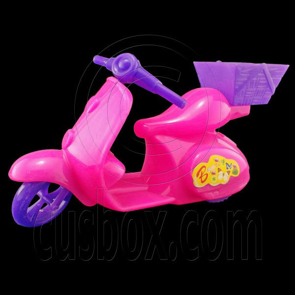 Pink Plastic Motorcycle 1:6 Barbie Blythe Doll's House Dollhouse Miniature #12406