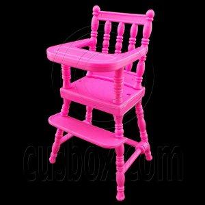 Pink Nursery Baby High Chair 1:6 Barbie Kelly Doll's House Dollhouse Miniature #12419