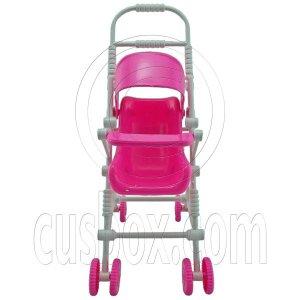 Pink Nursery Baby New Stroller 1/6 Barbie Kelly Doll's House Dollhouse Furniture #12594