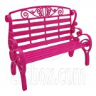 Pink Garden 2-Seate Chair Bench New 1/6 Barbie Doll's House Dollhouse Furniture #12596