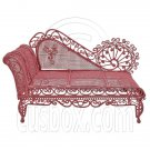 Pink Wire Chaise Longue Long Sleeper Sofa 1:12 Doll's House Dollhouse Furniture #12317