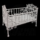 White Wire Nursery Cradle Bed Crib 1/6 Kelly Doll's House Dollhouse Furniture #12485