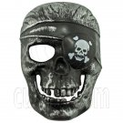 Black Silver Pirate Skull 3D Party Halloween Full Mask #12009
