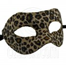 Cheetah Mardi Gras Cosplay Venetian Masquerade Ball Halloween Party Face Mask #12088