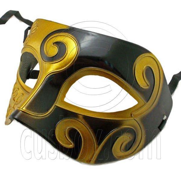 Golden Black Floral Mardi Gras Venetian Masquerade Party Face Eye Mask Halloween #12544