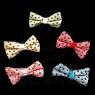 Pair Mini Size 5cm 2inch Kids' Bowknot (Star Pattern) Bow Tie Alligator Hair Clips #51719