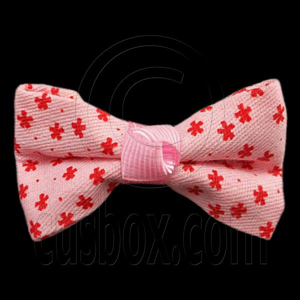 Pair Mini Size 5cm 2inch Kids' Bowknot (Star Pattern) Bow Tie Alligator Hair Clips PINK #51720