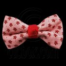 Pair Mini Size 5cm 2inch Kids' Bowknot (Star Pattern) Bow Tie Alligator Hair Clips RED #51722