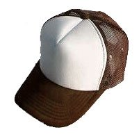 Plain Mesh Ball Cap (BROWN WHITE) #50554