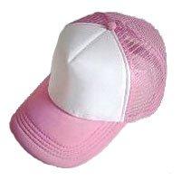 Plain Mesh Ball Cap (PINK WHITE) #50562