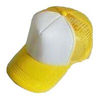 Plain Mesh Ball Cap (YELLOW WHITE) #50579