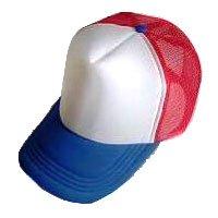 Plain Mesh Ball Cap (BLUE WHITE RED) #51201